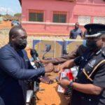 Member of Parliament for Ningo Prampram, Hon Sam George donates motorbikes to Ghana Police